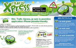 Trafic Xpress, une nouvelle application iPhone pour des trajets moins polluants et plus sereins