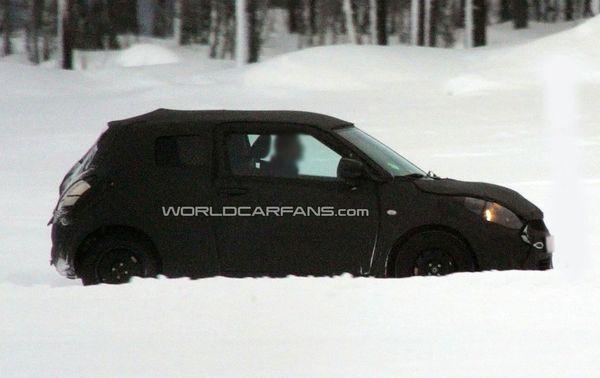 Spyshot : la prochaine Suzuki Swift aux sports d'hiver