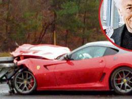 Crash info : une Ferrari 599 GTO dans un rail allemand