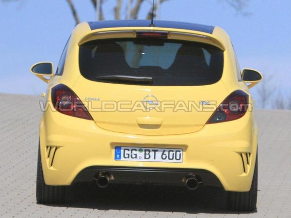 Spyshot : Opel Corsa OPC Nürburgring Edition, le petit enfer jaune