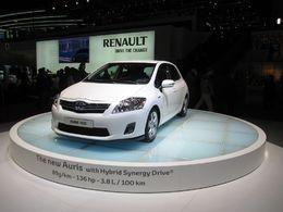 En direct du Salon de Genève 2010 : la Toyota Auris Hybrid Synergy Drive