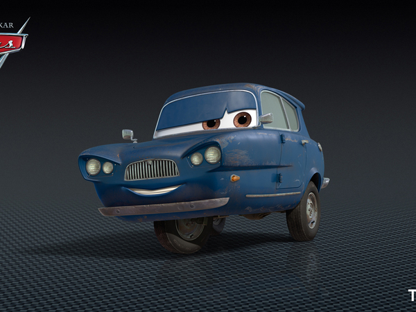 Cars 2 une vieille anglaise trois roues et m me un avion - Nom voitures cars 2 ...
