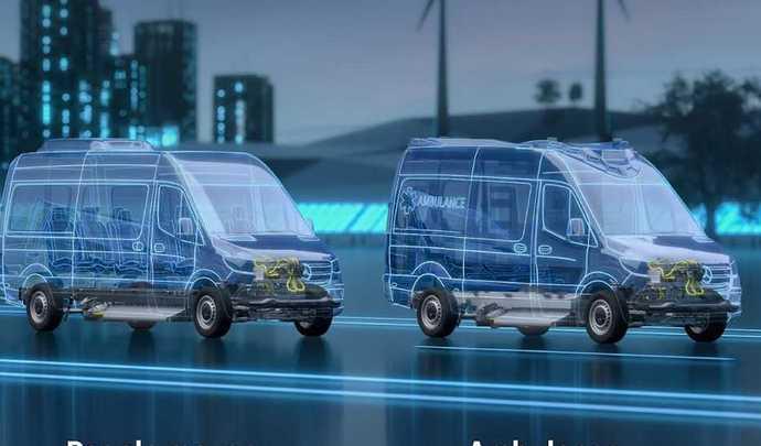 La plateforme du futur Mercedes eSprinter sera très polyvalente