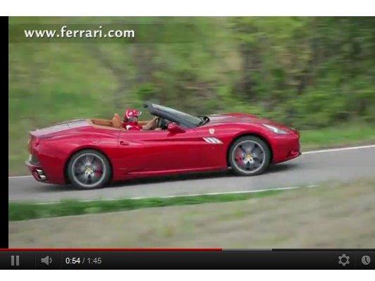 La nouvelle Ferrari California se fait entendre en vidéo