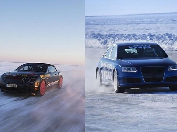 Le record sur glace de Bentley battu par une Audi RS6 à 331,6 km/h chaussée de pneus Nokian