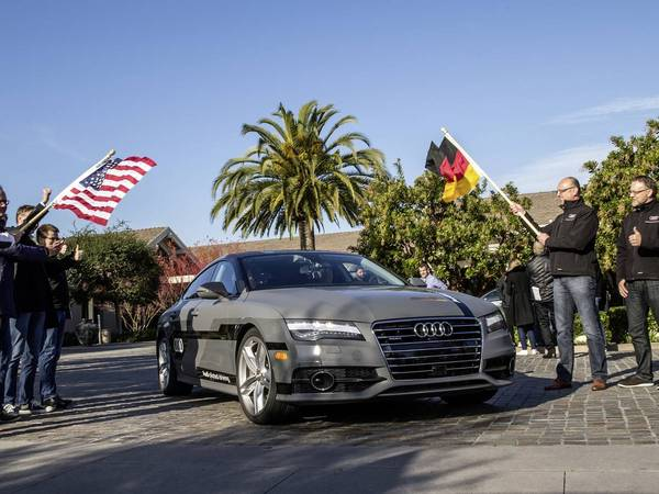 Audi : une A7 sans conducteur de la Silicon Valley à Las Vegas