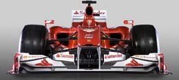 F1 : la Ferrari F10 montre son nez (qu'elle a long)