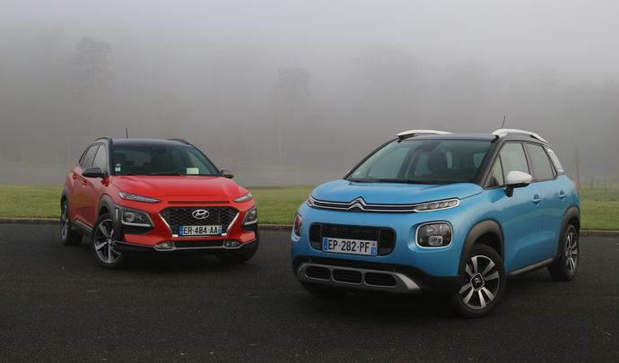 Comparatif vidéo - Citroën C3 Aircross vs Hyundai Kona : lookés comme jamais