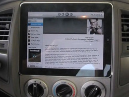 L'Ipad peut aussi servir d'autoradio
