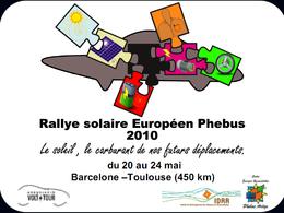 Bientôt le Rallye solaire européen Phebus 2010