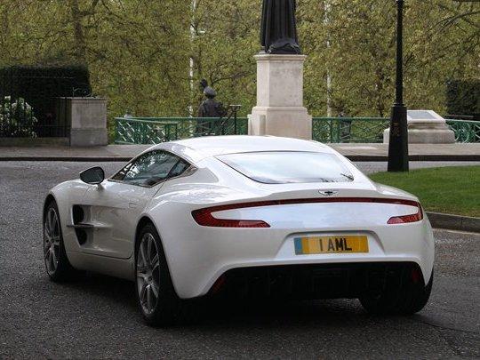 L'Aston Martin 0ne-77 dans Londres