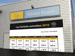 Transparence : Opel met en ligne tous les tarifs d'entretien, concession par concession