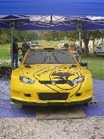 Bryan Bouffier au Rallye d'Antibes sur la Proton Satria Neo S2000