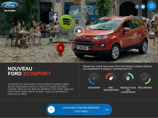Ford lance son SUV Ecosport via Facebook