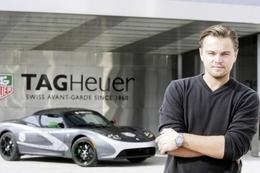 Le Roadster Tesla TAG Heuer électrique soutenu par Leonardo Di Caprio