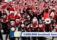 Ducati: 1 million de fans sur Facebook