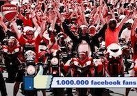 Ducati: 1 million de fans sur Facebook