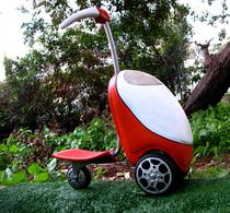 """Le """"scooter/tondeuse"""", écologique et ludique"""