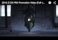 Kawasaki Z125 Pro: la vidéo officielle (version complète)