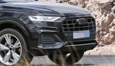 L'Audi Q8 surpris avec très peu de camouflage