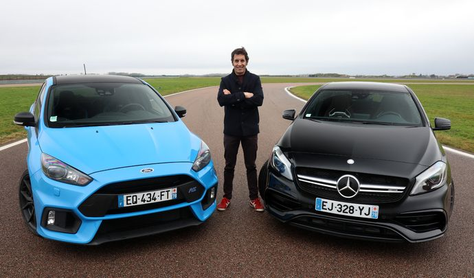 Comparatif vidéo - Les essais de Soheil Ayari - Ford Focus RS vs Mercedes Classe A45 AMG : baroud d'honneur