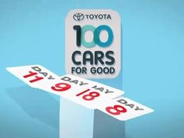 Toyota va offrir 100 voitures à 100 associations caritatives durant 100 jours