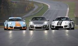 Les Porsche 997 GT2 9FF, Sportec et Techart se mesurent sur un circuit. Laquelle sera la plus rapide?