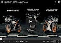 Les KTM RC 125, RC 200 et RC 390 en vidéo