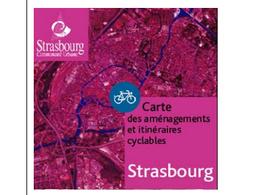 Strasbourg : deux nouvelles cartes des aménagements et itinéraires cyclables vous sont offertes