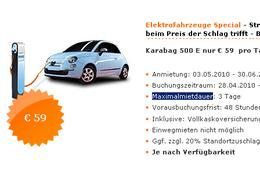 Des autos électriques peuvent être louées en Allemagne