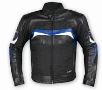 Cuir et textile aéré : le blouson A-Pro Breeze.