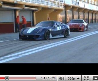 [vidéos] les Ferrari 599XX à l'oeuvre