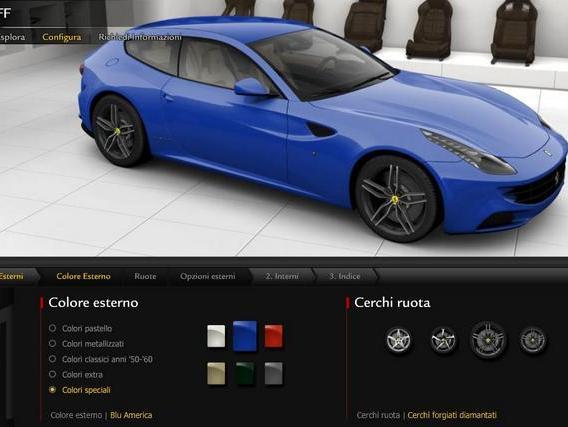 Ferrari FF : le configurateur est en ligne (amusez-vous)