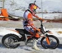 "La KTM Freeride E-SX façon ""Holiday on ice"""