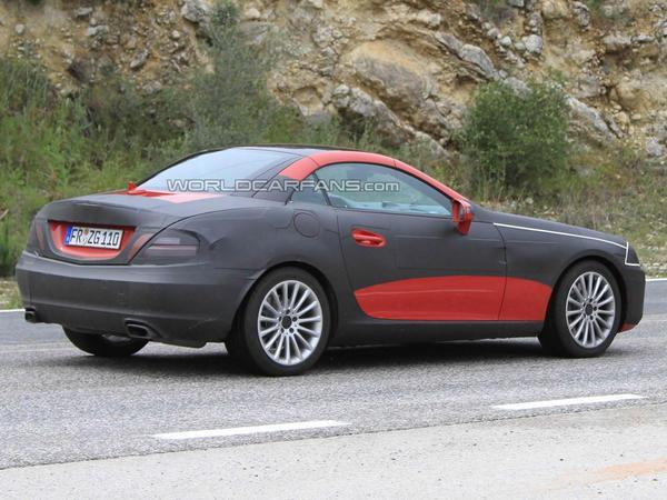 Spyshot : future Mercedes SLK, SLS style