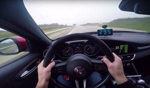 Insolite : une Alfa Romeo Giulia Quadrifoglio lancée à 295km/h sur l'autoroute