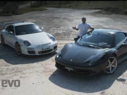 Réveil Auto : Ferrari 458 Italia contre Porsche 911 GT3 RS, le classique par EVO et Chris Harris
