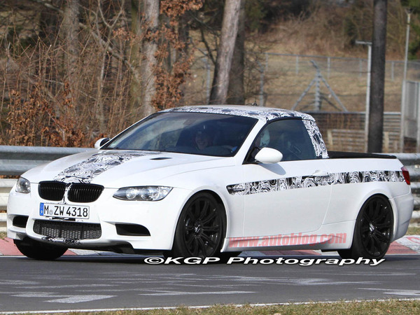 Une BMW M3 pick-up surprise sur le Ring'!
