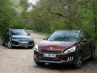 Peugeot 508 RXH vs Audi A4 Allroad : terrain glissant
