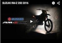 Suzuki RM-Z 250 2016: la vidéo