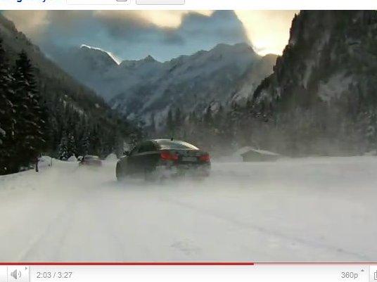 [vidéo] la BMW M5 dans la neige mais sans Chris Harris