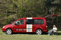 Volkswagen Caddy Maxi Tramper : le grand ludospace dédié au camping