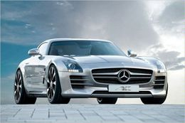 Mercedes SLS AMG par AK-Car Design : virtuelle mais pas vilaine