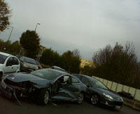 Crash test réel avec une Laguna coupé