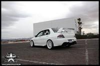 Mitsubishi Lancer Evolution pure white..