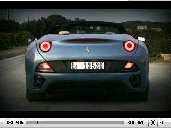 Vidéo : premiers essais de la Ferrari California : Fantastic