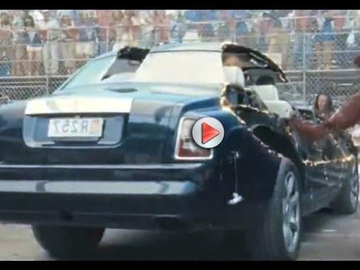 [Vidéo] Iron Man 2 : deux Rolls-Royce Phantom détruites pour de vrai