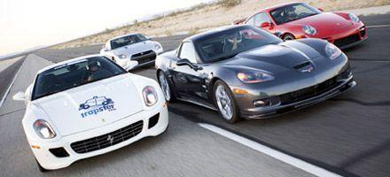 World War chez les Supercars : Corvette ZR1 vs Porsche 911 GT2 vs Ferrari 599 GTB vs Nissan GT-R