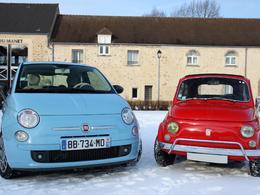 Vidéo - Fiat 500 Luxe (1970) vs Fiat 500 TwinAir (2008) : tête-à-queue mécanique