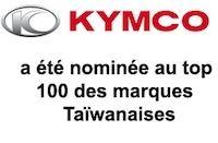 Kymco déboule dans le top 100 des marques Taïwanaises.